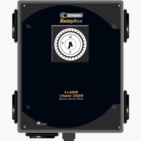 VOI-Box relaiskast 4 x contacten en 1 x heater