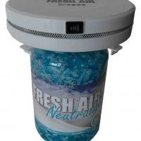 Set prijs ventilator net Fresh Air Breeze met Fresh Air + Breeze geur gel Fresh Linnen (kleur blauw) 3 liter