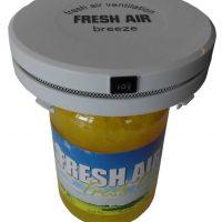 Set prijs ventilator ten behoeve van Fresh Air Breeze met Fresh Air + Breeze geur gel Lemon (kleur geel) 3 liter!