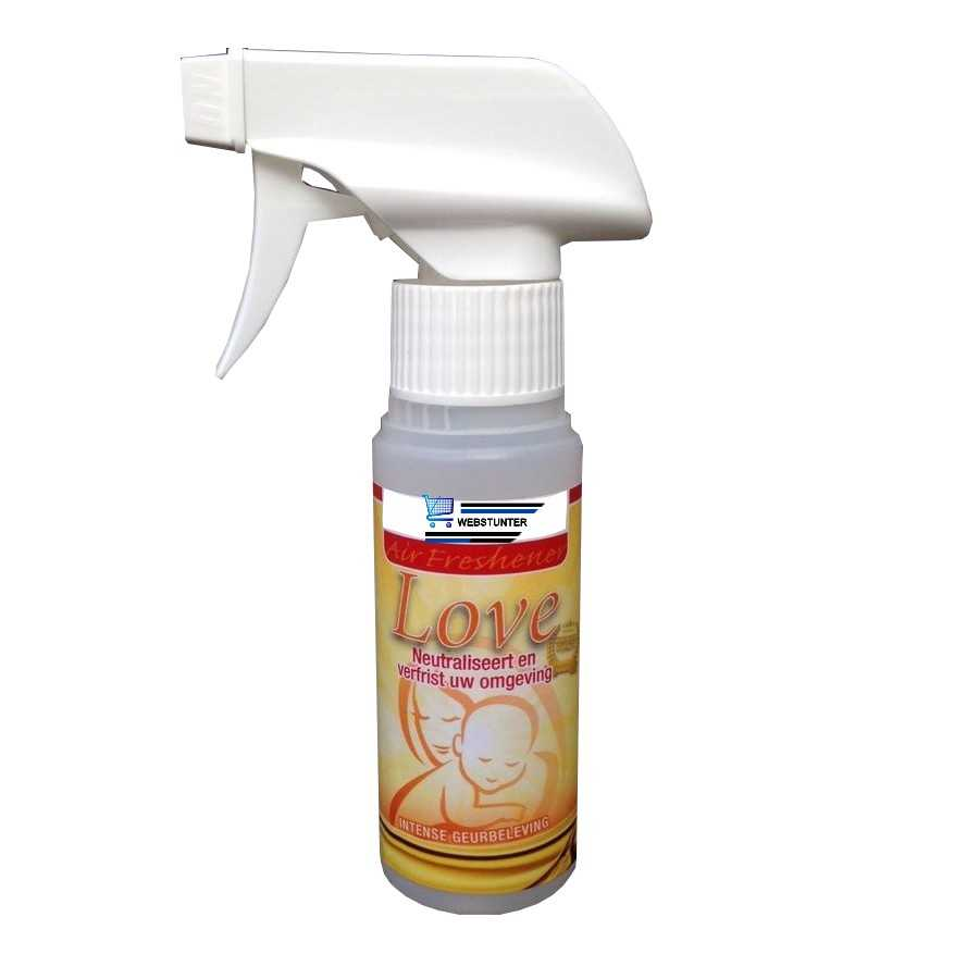 Magic Air Freshener Love geurolie 100 ml (geurolie) met luxe spraymond.