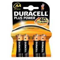 Duracell Plus Power AA Alkaline Batterijen 4 x Pak